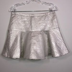 NWT express silver metallic mini skirt 4